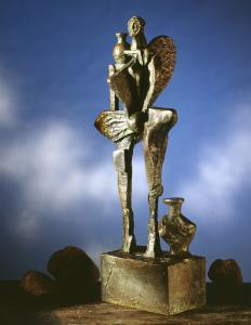 Wasserträgerin | Jahr 1992 | Bronze 6/6 | Höhe 57 cm