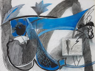 WERK 1186 | Jahr 2006 | Pastell, Kohle und schwarze Kreide auf Papier.<br> Format: 112 x 150 cm