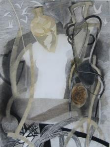 WERK 1188 | Jahr 2007 | Kohle, Pastell und schwarze Kreide auf Papier.<br> Format: 150 x 112 cm