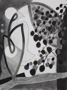 WERK 1283 | Jahr 2013 | Kohle und Pastell auf Papier.<br> Format: 150 x 112 cm