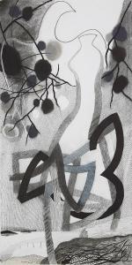 WERK 1284 | Jahr 2013 | Pastell und Kohle auf Papier.<br> Format: 140 x 70 cm
