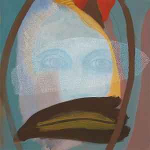 WERK 1285 – Aus der Serie «Regards» | Jahr 2013 | Öl auf Leinwand<br>Format: 50 x 50 cm