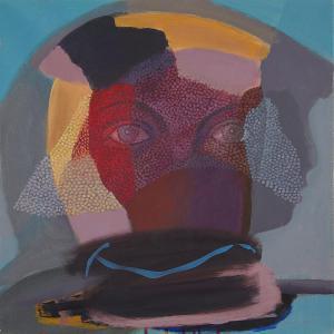 WERK 1289 – Aus der Serie «Regards» | Jahr 2013 | Öl auf Leinwand<br>Format: 50 x 50 cm