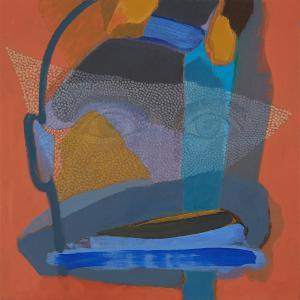 WERK 1294 – Aus der Serie «Regards» | Jahr 2013 | Öl auf Leinwand<br>Format: 50 x 50 cm